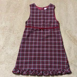 Burgundy Plaid Dress